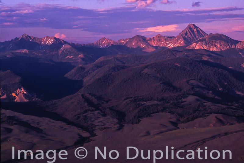Castle Peak and the White Cloud Mountains, Idaho