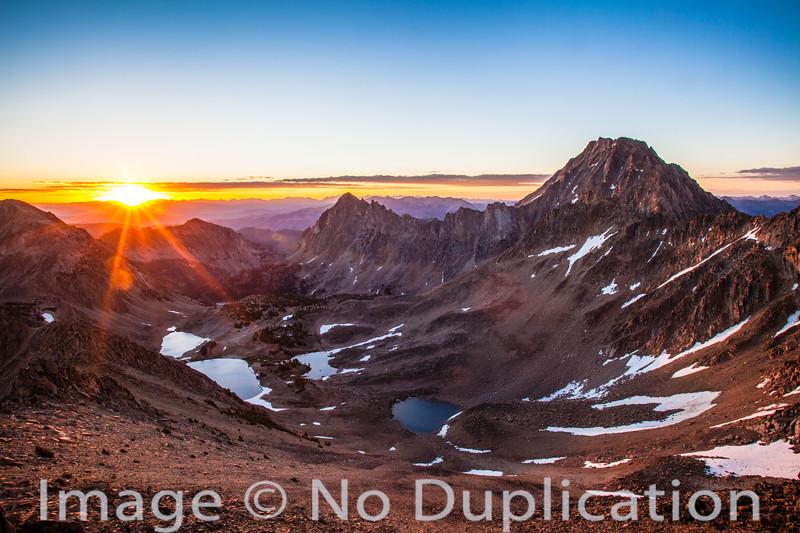Sunrise on Castle Peak, White Cloud Mountains, Idaho