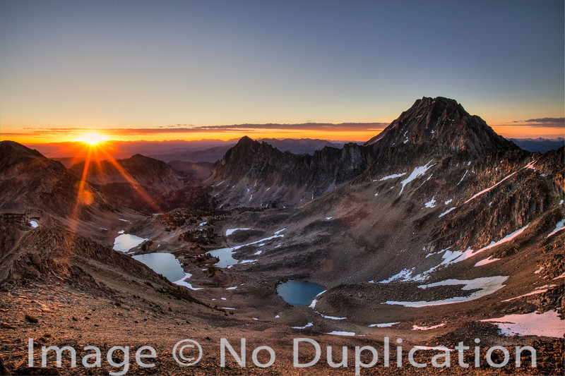 Sunrise on Castle Peak, White Cloud Mountains, Idaho