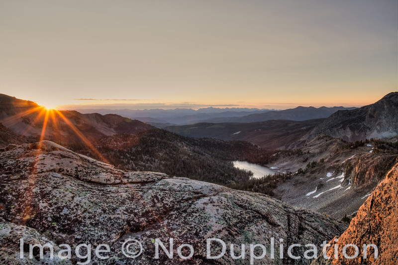 Sunrise over the Lost River Range from the White Cloud Mountains, Idaho