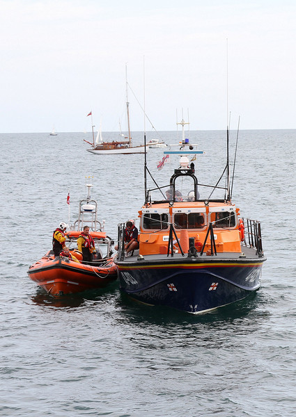 The Poole lifeboats are in attendance just in case.
