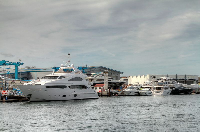 Made IN the Harbour, the Sunseeker  yard.
