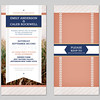 country chic invitation 4x8 flat v
