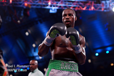 BERNARD HOPKINS (left) squares off against CHAD DAWSON for the WBC and Ring Magazine Light Heavyweight Championship of the World.