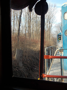 A view of the ride from the caboose.
