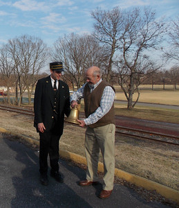 Nathaniel Guest of Colebrookdale Railroad Preservation Trust with John Pfaltz.