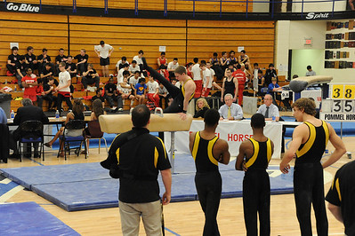 Boys Gymnastice IHSA Sectionals 2012