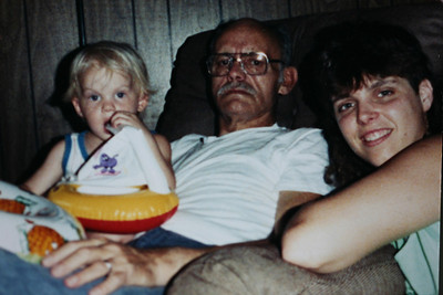 Dad, Ben and me Summer 1990.