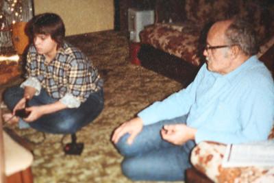 Dad and Angie Christmas 1982.