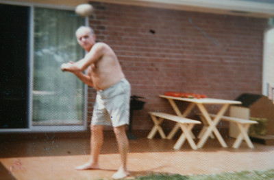 Dad playing ball with me in the backyard late 1970's. Thanks Dad!
