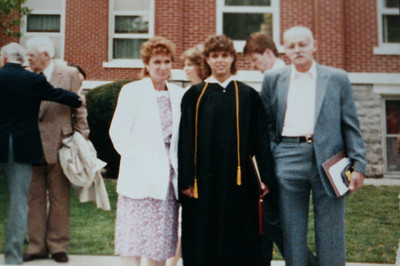 Mom, Dad and me at my college graduation May 1989.
