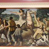 The Great Runaway mural in the Muncy post office.  The Great Escape was precipitated by the Indians coming down the Loyalsock Creek valley in 1778, killing all the pioneers they could.  They were supporting the British at the time.