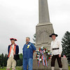 Revolutionary War reenactor and Samuel Wallis reenactor with a Brady at the John Brady memorial in the Muncy Cemetery.  This was erected 100 years after Capt. John's murder by Indians.