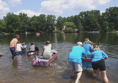brady lake cardboad boat race