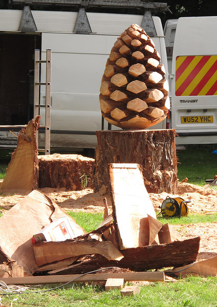 My favourite was this 'Fir Cone' carving which went for several hundred pounds at auction at the end of the day.