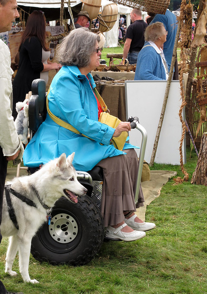This disabled lady had an impressive 'wheelchair', this Segway all terrain vehicle looked great fun.