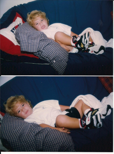 1993 Brandon in his new Deon Sanders shoes 001