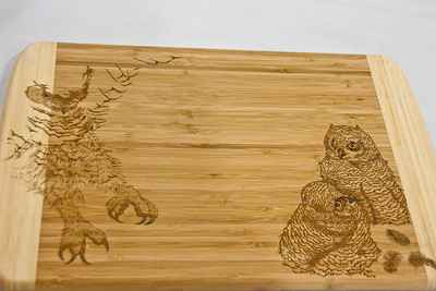 Wood Etched Cutting Board