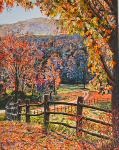 Oil Painting of the Duncan valley