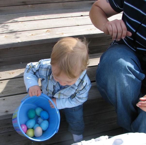 See my eggs, Grandma?