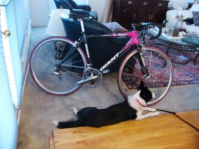 Bria and her bike