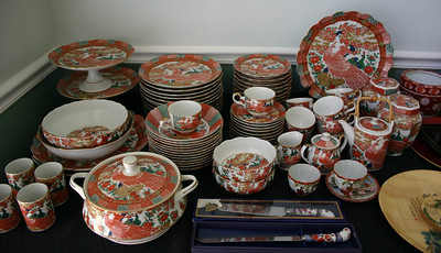 This huge set of Peacock pattern china:  $295