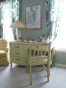 French Provencial desk w/chair:  $100