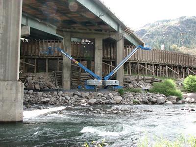 Truckee River Bridge Work