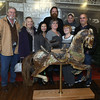 1/14/2017 Mike Orazzi | Staff<br /> Members of the Lange family with their carousel horse Gus, which was recently restored at the New England Carousel Museum in Bristol.