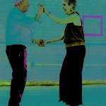 12/13/2016 Mike Orazzi   StaffAngela Marie Russo and Ray Pelletier while dancing at the Bristol Senior Center Tuesday afternoon.
