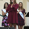 9/21/2017 Mike Orazzi | Staff<br /> Mum Festival Grand Marshal Brittany Decker sings the Star Spangled Banner during the 56th Annual Chrysanthemum Festival on opening night in Bristol Thursday.