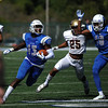 9/23/2017 Mike Orazzi | Staff<br /> CCSU's Najae Brown (13) during Saturday's football game with in New Britain.