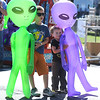 9/23/2017 Mike Orazzi | Staff<br /> Aiden and Jacob Sullivan with giant aliens during the 56th Annual Chrysanthemum Festival on Saturday in Bristol.