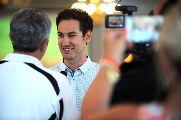 7/13/2017 Mike Orazzi | Staff Joey Logano at the Aqua Turf Club for Driving Hope Home, the annual Joey Logano Foundation charity event in Connecticut Thursday afternoon.