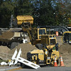 10/20/2017 Mike Orazzi | Staff<br /> Road construction in Centre Sqaure in downtown Bristol Friday.