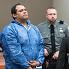 11/21/17  Wesley Bunnell | Staff<br /> <br /> Carlos Gonzalez-Oliver, 41, was arraigned in New Britain Superior Court in front of Judge Joan Alexander on Tuesday afternoon in connection with a fatal stabbing on Monday night at a rooming home on North Street.