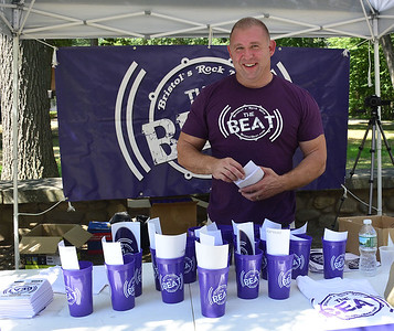 8/20/2016 Mike Orazzi | Staff The Beat radio's Steve Gagne during the Rockwell Park festival on Saturday in Bristol.