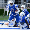 11/4/17  Wesley Bunnell | Staff<br /> <br /> CCSU football defeated St. Francis 28-10 in a home game at Arute Field. S Najae Brown (13) with a fumble recovery for a touchdown.