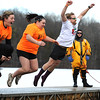 1/20/2018 Mike Orazzi | Staff<br /> Rob Lalla (far right) during the 13th Annual Sloper Plunge at Camp Sloper in Southington Saturday.