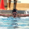 01/19/18  Wesley Bunnell | Staff<br /> <br /> Plainville swimming was defeated by Southington 97-80  on Friday evening at Plainville High School. Southington's Derek Melanson during the 100 fly.
