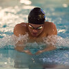 01/19/18  Wesley Bunnell   Staff<br /> <br /> Plainville swimming was defeated by Southington 97-80  on Friday evening at Plainville High School. Southington's Brendon Egan in the 100 breast.