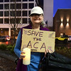 2/25/2017 Mike Orazzi | Staff<br /> Liz Bishop during a candle light vigil and rally for the Affordable Care Act (ACA) and or Obamacare, in New Britain's Central Park Saturday evening.