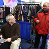2/18/2017 Mike Orazzi | Staff <br /> The Bristol Historical Society's Tom Dickau talks with Charlie Jacobs during the 32nd Annual Bristol Home & Business Show held at Bristol Eastern High School Saturday.