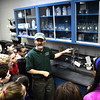 2/16/2017 Mike Orazzi | Staff<br /> Craig O'Neil explains how the Bristol Water Treatment Plant works to students from the Chippens Hill Middle School during a tour Thursday morning.