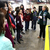 2/16/2017 Mike Orazzi | Staff<br /> Barbara Solla explains how the Bristol Water Treatment Plant works to students from the Chippens Hill Middle School during a tour Thursday morning.