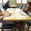2/25/2017 Mike Orazzi | Staff<br /> Marlo McQuiggan and her daughter Kyla,3, enjoy breakfast during the 7th Annual Maple Sugaring and Pancake Breakfast Fundraiser at Indian Rock Nature Preserve in Bristol Saturday morning.