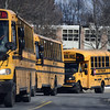 2/16/2017 Mike Orazzi | Staff<br /> Buses lined up at Bristol Eastern High School.