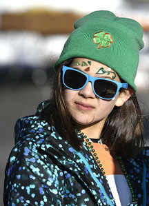 3/17/2018 Mike Orazzi | Staff Rachel Bird during the 16th Annual Shamrock Run and Walk held at the Chippens Hill Middle School Saturday morning.