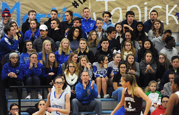 1/18/2018 Mike Orazzi | Staff Part of the student section during the Eastern Central girls basketball game at Eastern Thursday night.