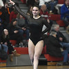 1/6/2018 Mike Orazzi | Staff<br /> Bristol Central's Karissa Ouellette while competing during the floor exercise at the Pomperaug Open held at Pomperaug High School Saturday.